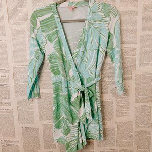 Green, Blue and White Cross Top Romper
